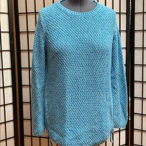 NWOT Talbots Cotton Sweater w/Zip Detail 1X